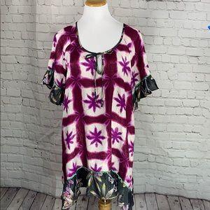 Anthropologie Shiobori Batik Blooms Dress